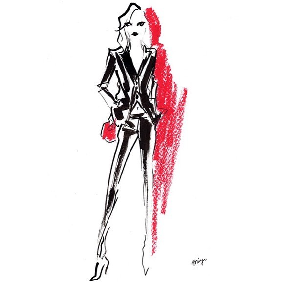 #ElsaHosk #CFDA #cfdaawards #fashion #fashionillustration #miyukiohashi