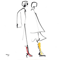 red and yellow  #illustration #fashion #