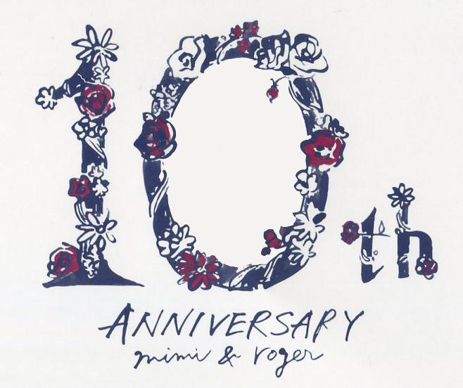 mimi&roger 10th anniversary logo