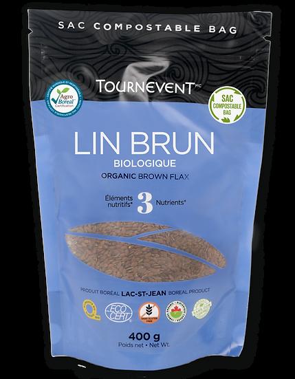 Lin brun biologiques