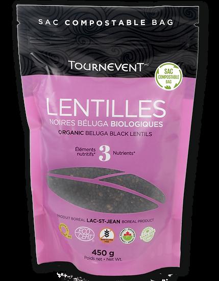 Lentilles noires Béluga biologiques