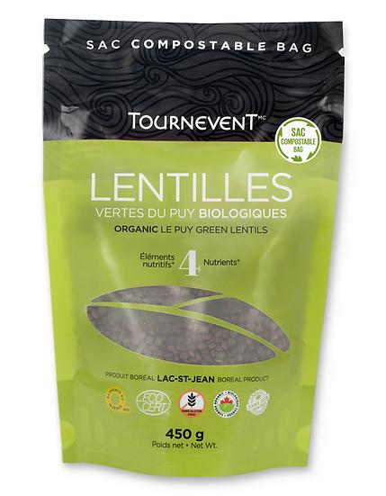 Lentilles vertes françaises biologiques