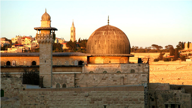 al-Aqsa-Jerusalem sunset