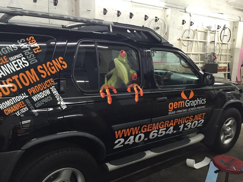 Gem graphics vehicle lettering | Sig