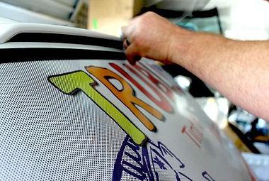 window perf film | Signs in Rockville