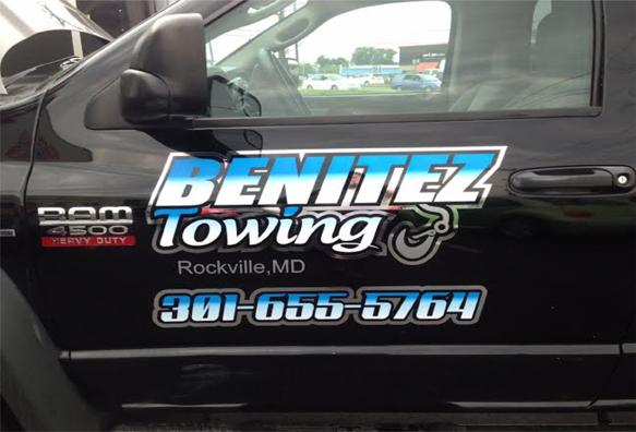 Benitez towing truck lettering | Sig