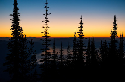 Scotchman's Peak Sunset