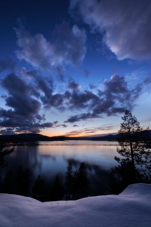 Last Light on Lake Pend Orielle