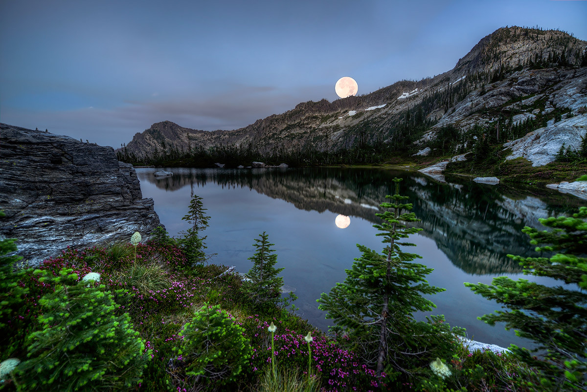 Idaho Moonrise over the Selway