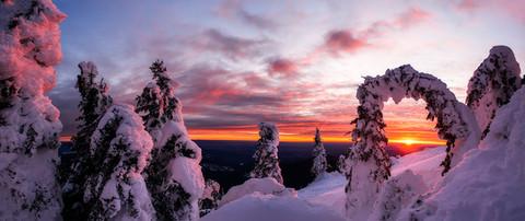 Mount Spokane Sunset