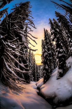 Idaho Backcountry in Winter