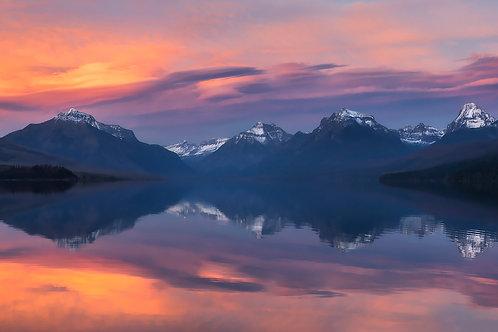 Lake McDonald Sunset Pano