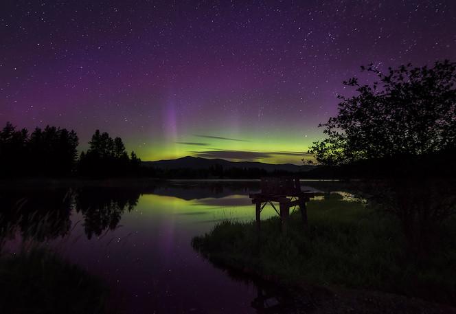 Aurora Reflection in Pend Oreille