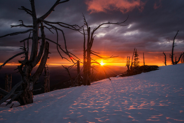Snow Peak Sunset