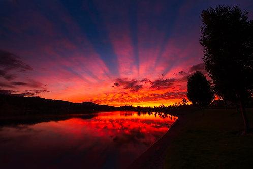 Sunset on the Spokane River