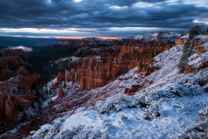 Winter Sunrise Over Bryce Canyon