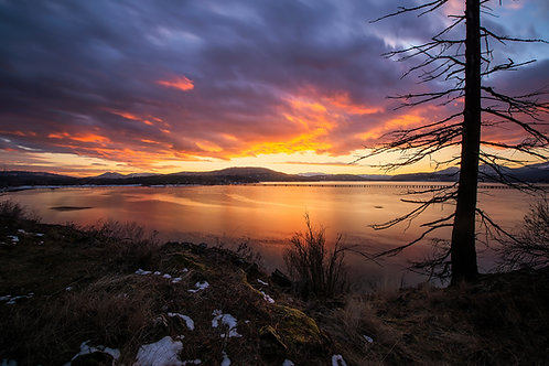 Sky on Fire - Lake Pend Oreille