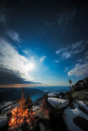 Selkirk Moonlight on Priest Lake