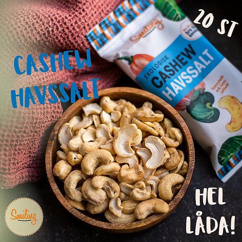 Cashew havssalt Hel låda (20 påsar)