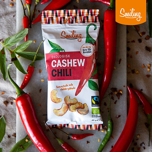 Cashew chili Hel låda (20 påsar)