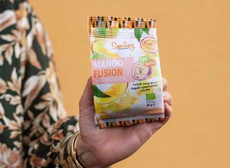 Mango Fusion – torkad mango dränkt i Passion- och limejuice – ohejdat god!