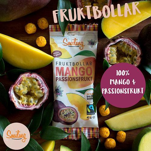 Fruktbollar Mango/passion Hel låda  (10 st)