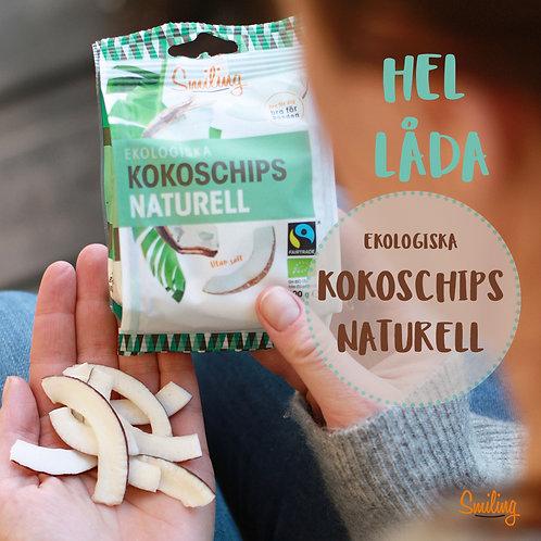 Kokoschips naturell Hel låda (6 påsar)