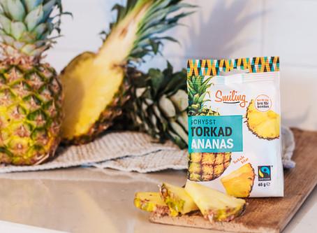 Torkad ananas – ännu en nyttig nyhet från Smiling
