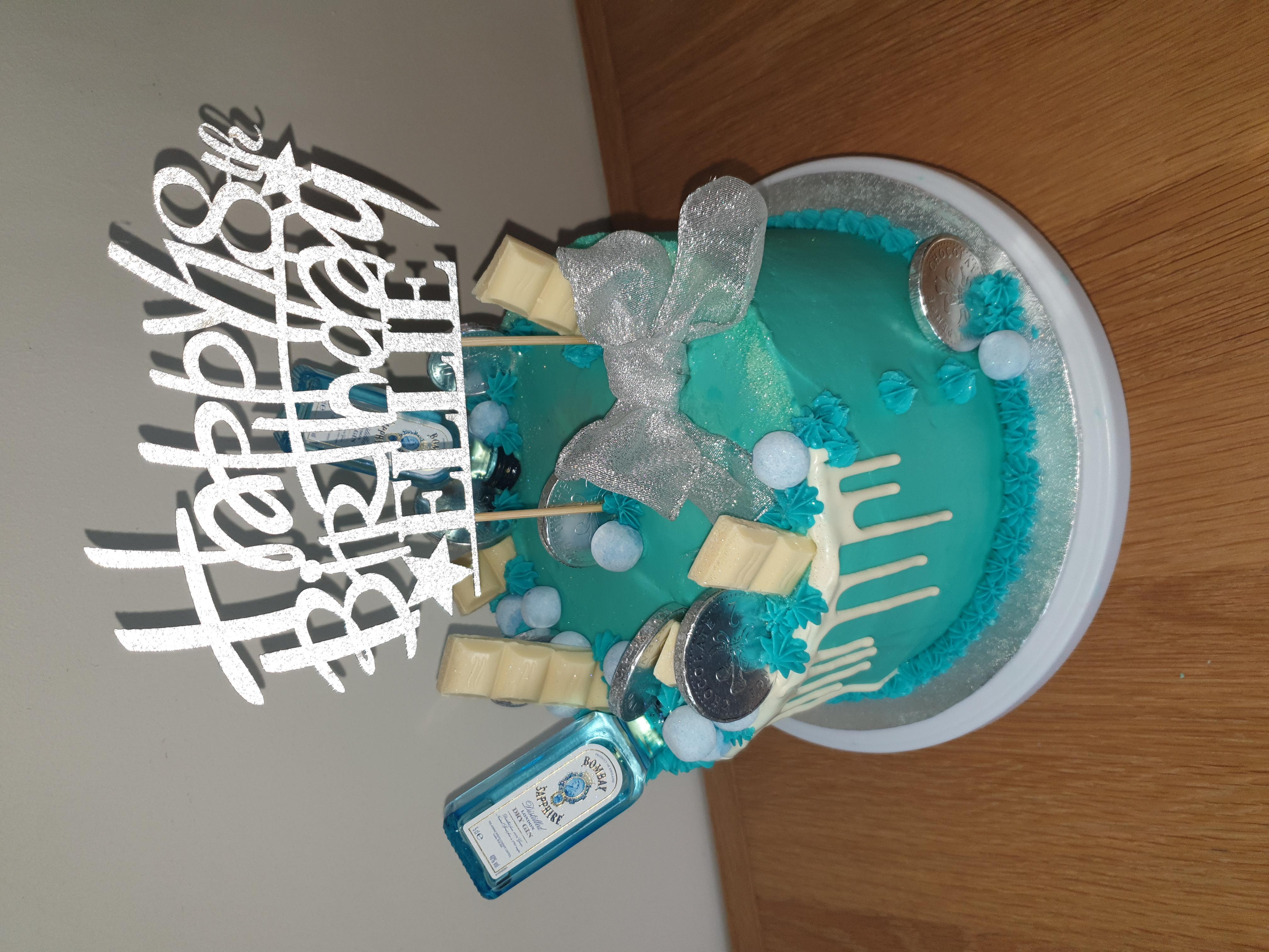 bombay sapphire cake