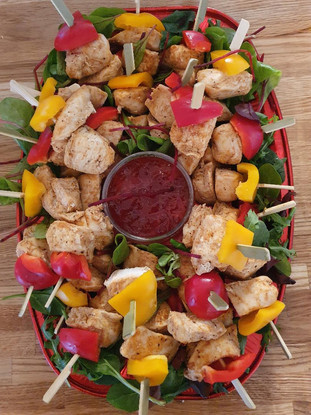 marrinated chicken skewers platter.jpg