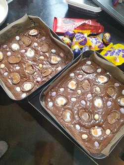 choclate cream egg brownie
