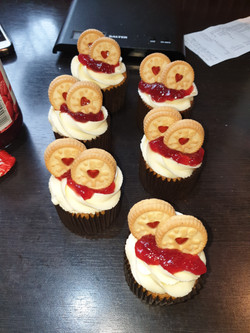 jammie dodger cupcakes