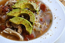 South-Of-The-Border Chicken & Rice Soup