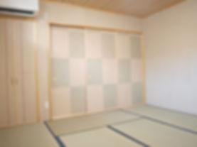 手作り和紙の和室