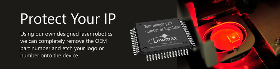 Laser marking at Lewmax showing how your own data can be added to any component