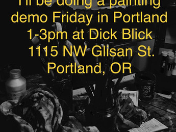 Painting Demo at Dick Blick NW Portland