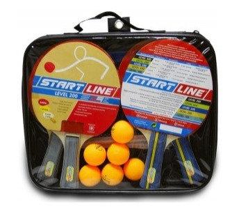 61-453 Набор 4 ракетки LEVEL200+6 мячей Club Select+сетка с креплением