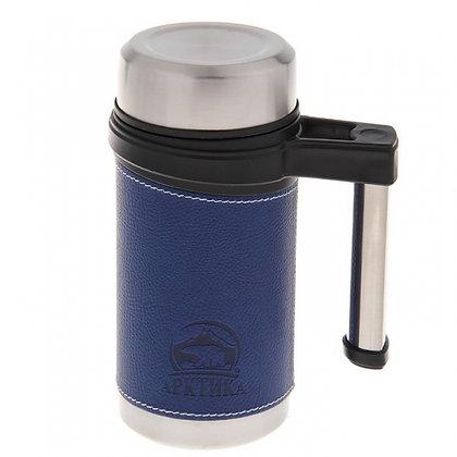 406-500 Термос-кружка Арктика с ручкой синяя