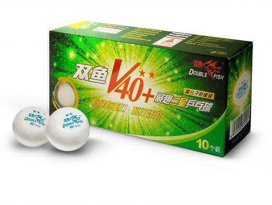V211F Мячи для настольного тенниса Double Fish 2 (10шт) 40+