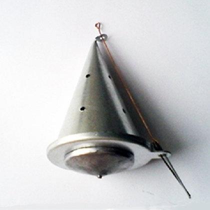 Кормушка зимняя СПОРТИВНАЯ (огруженная) конусная металлическая МАЛАЯ