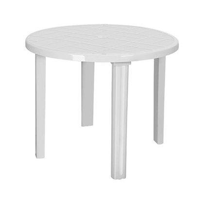 Стол круглый пластик белый