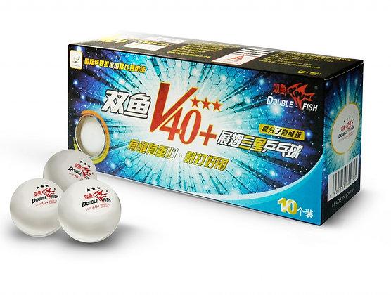 V111F Мячи для настольного тенниса Double Fish 3 (10шт) 40+