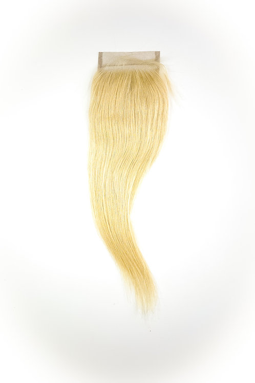 Brazilian Platinum Blonde Straight Lace Closure