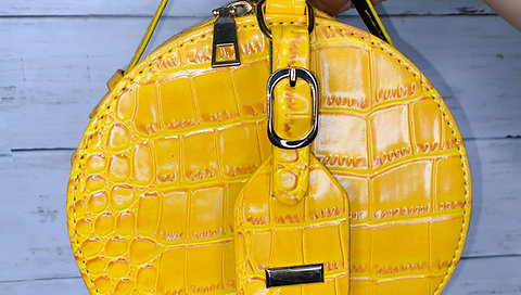 Yellow Crocodile Bag