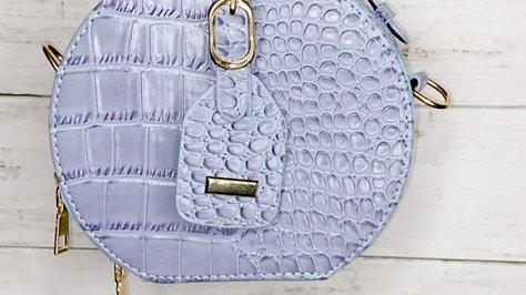 Purple/Blue Crocodile Bag