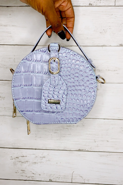 Purple/Blue Crocodile Bag