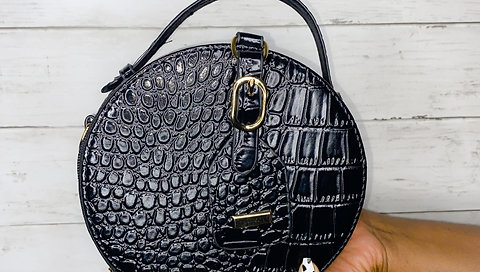 Black Crocodile Bag
