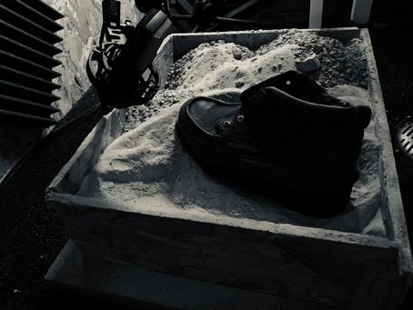 Journée difficile pour l'enregistrement du sol, type sable.