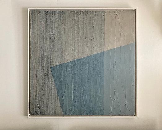 Affiche bleue, 100 x 100 x 4 cm
