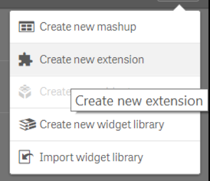 Create new extension